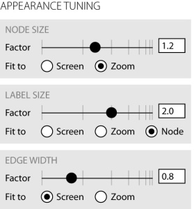 Generalized zoom options